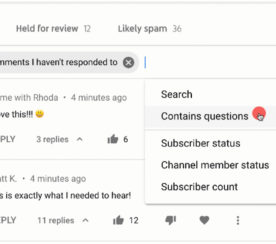 YouTube Makes it Easy for Creators to Search Through and Filter Comments