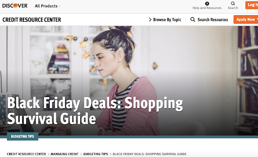 Discover's Black Friday Deals - Shopping Survival Guide