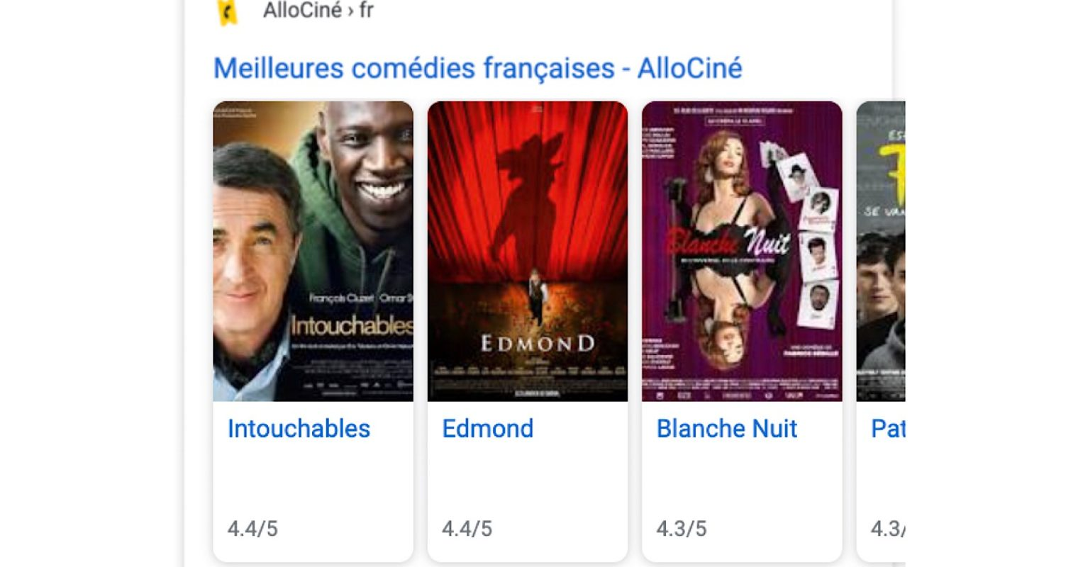 Google Introduces New Structured Data for Movie Carousels