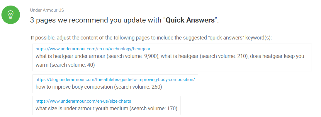 BrightEdge SEO Tool Quick Answers