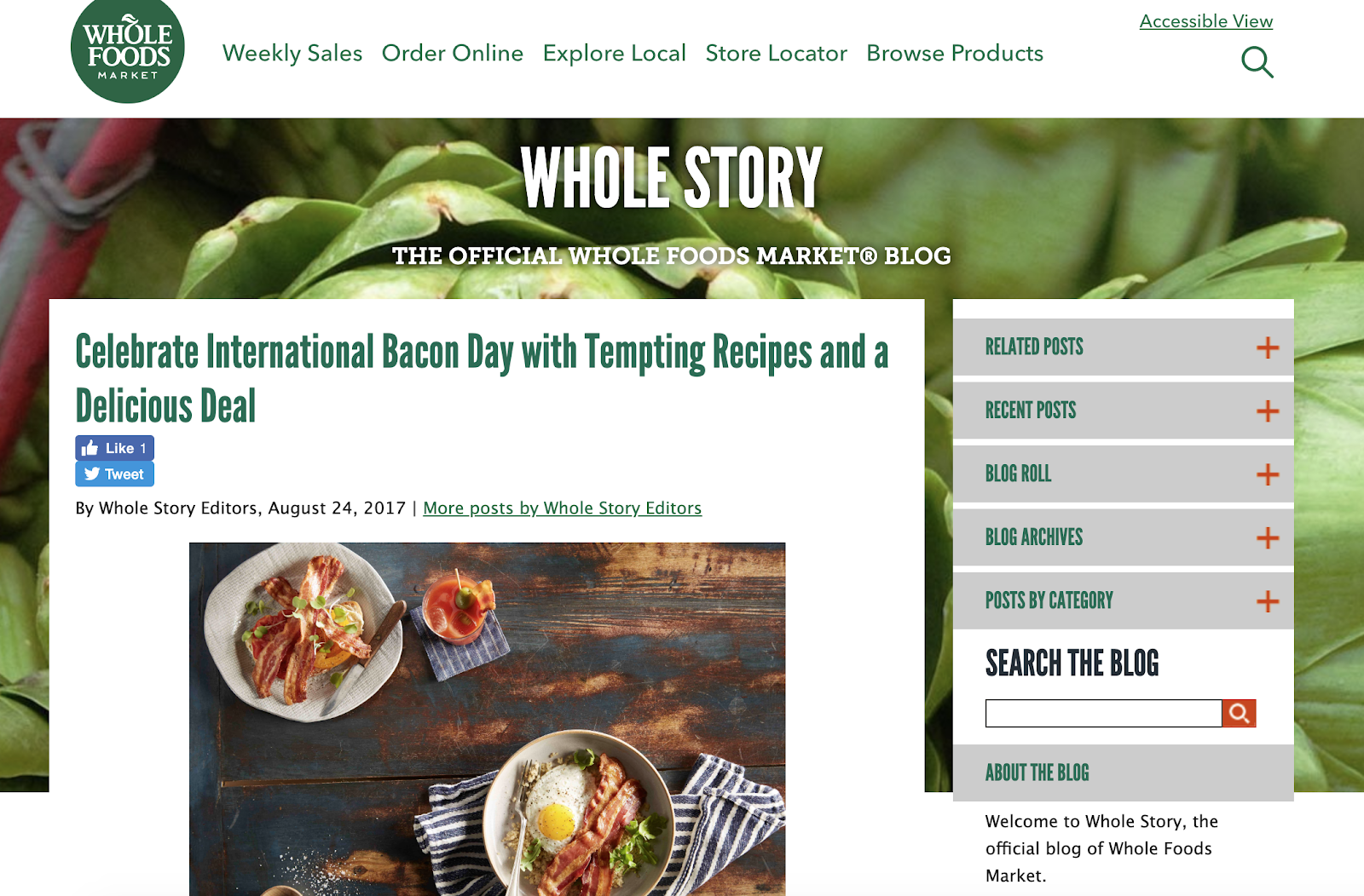 Whole foods - International Bacon Day