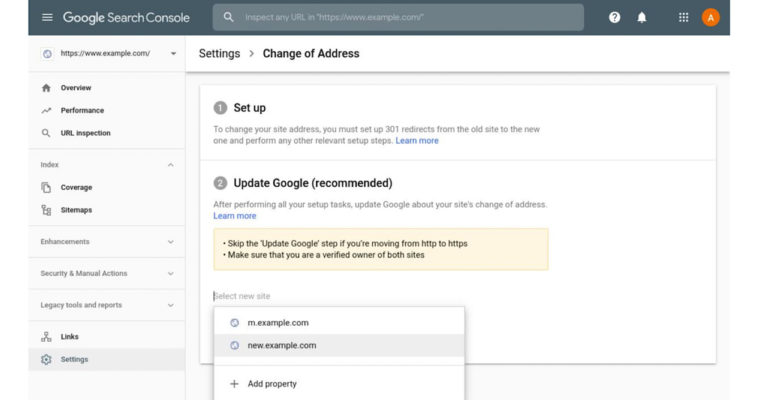 Google Brings 'Change of Address' Tool to New Version of Search Console