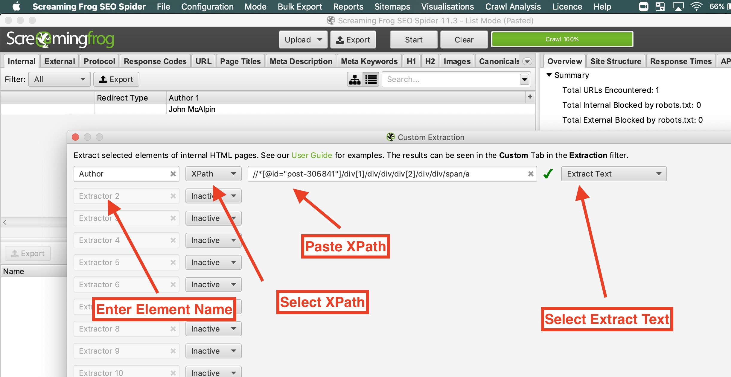 4 configure xpath extraction