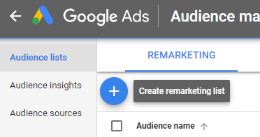 How to create an audience list - Step 2