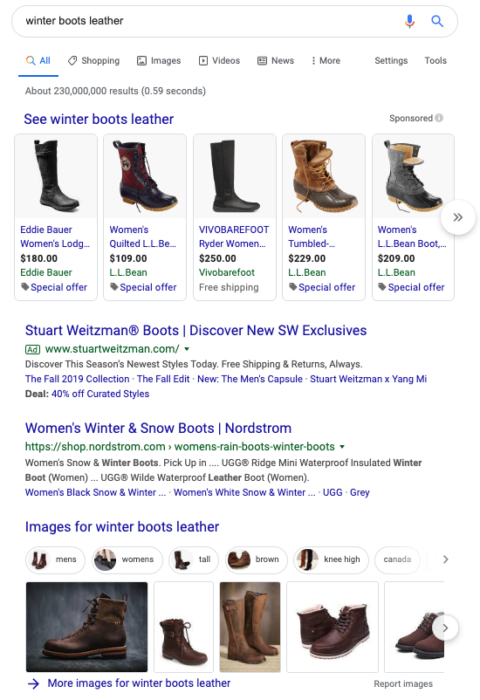 Winter boots leather US