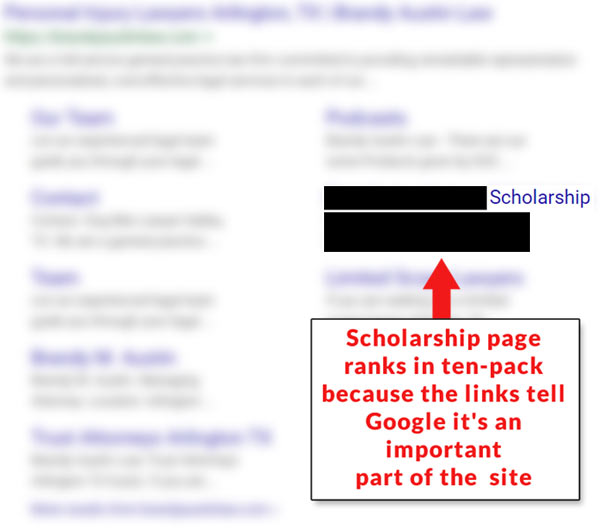 scholarship link building not working