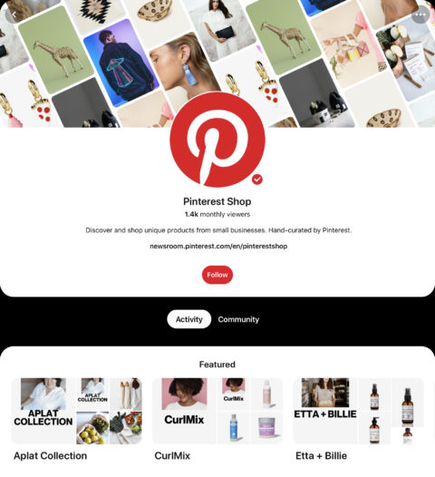 Pinterest Launches a New Home Dedicated to Small Business Shopping
