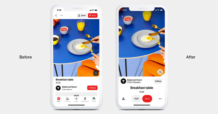 Pinterest Launches a Refresh of Its Mobile App