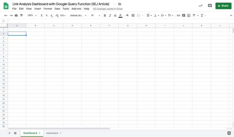 setup google sheet