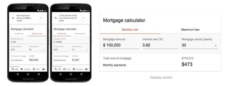 Google Upgrades Its Built-In Mortgage Calculator With New Features