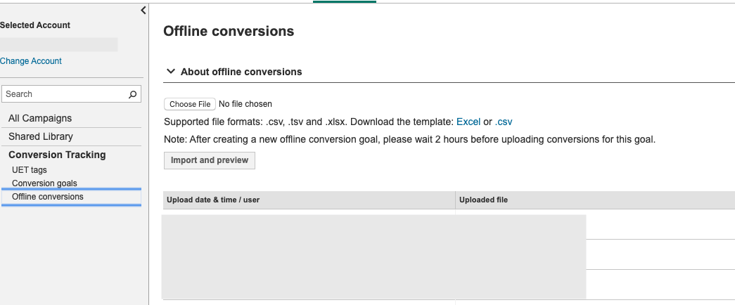 Upload Offline Conversions