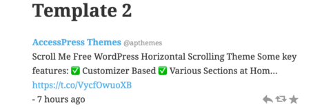 AccessPress Twitter Feed Template 2