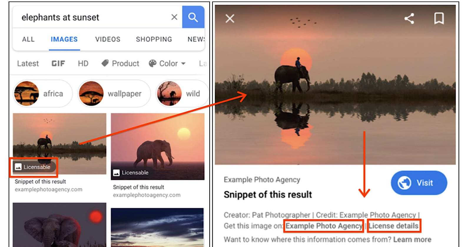 Google to Highlight Image Licensing Information in Image Search Results - Search Engine Journal
