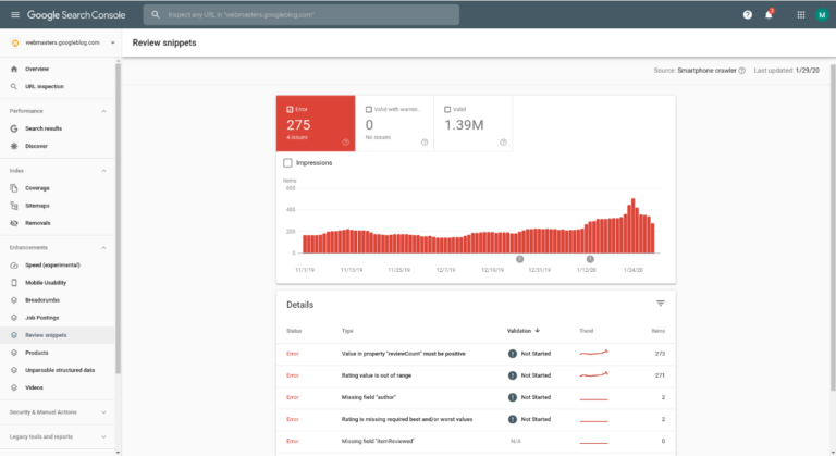 Google Search Console Begins Reporting on Review/Ratings Markup