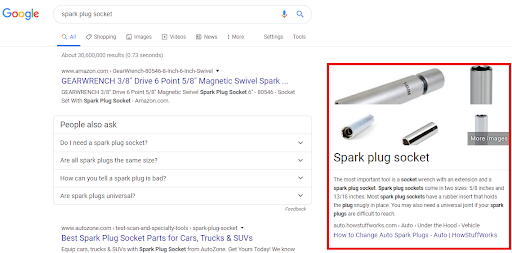 Right sidebar featured snippet