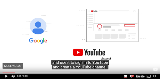 YouTube signup