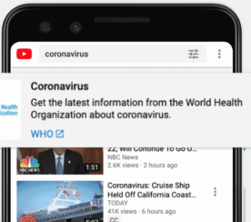 YouTube Allows Creators to Monetize Content About Coronavirus