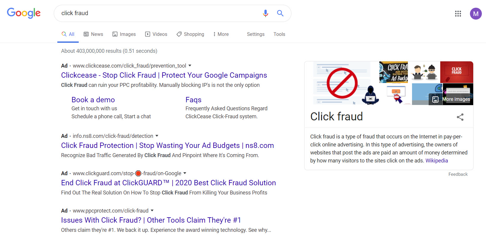 click fraud serp