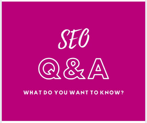 """SEO Q&A"" graphic"