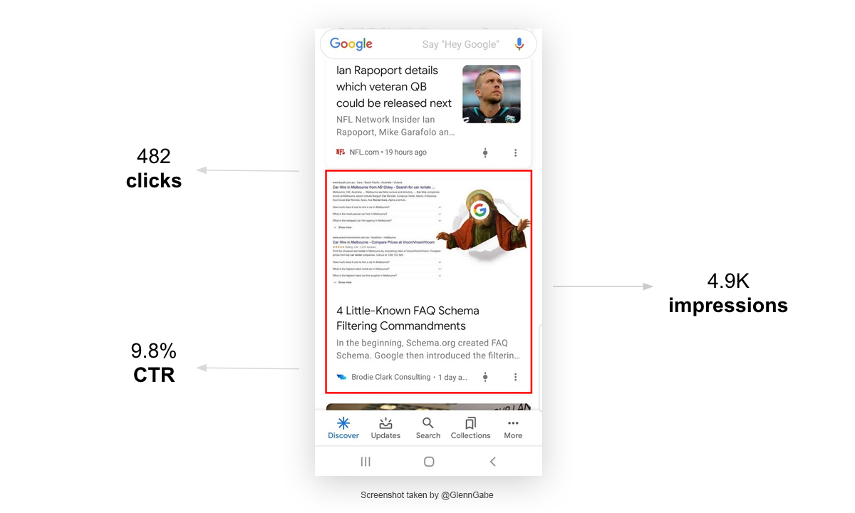 Google Discover Appearance with GSC Data