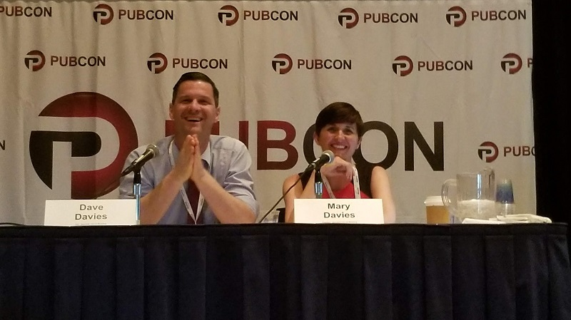 Mary and Dave Davies at Pubcon