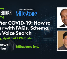 SEO After COVID-19: How to Recover with FAQs, Schema, AMP & Voice Search [Webinar]