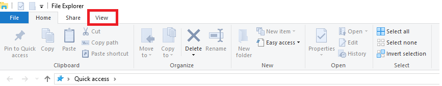 file explorer - view