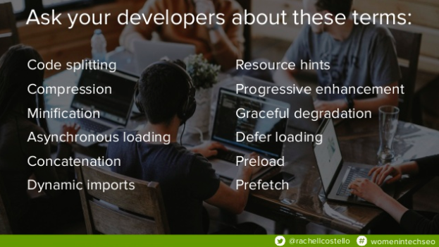 Terms to ask Developers about