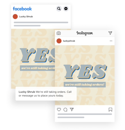 Facebook Templates for Business Posts About COVID-19 Changes