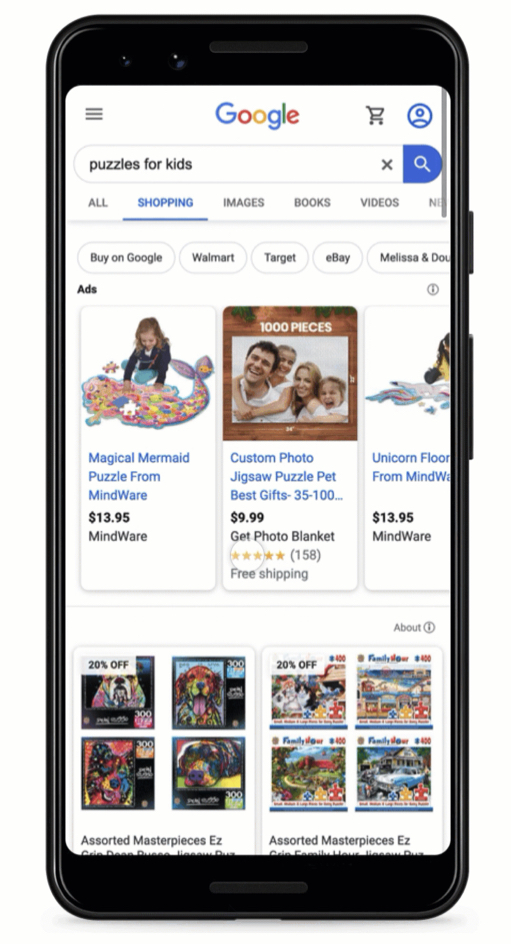 Google allows you to sell products for free in search results