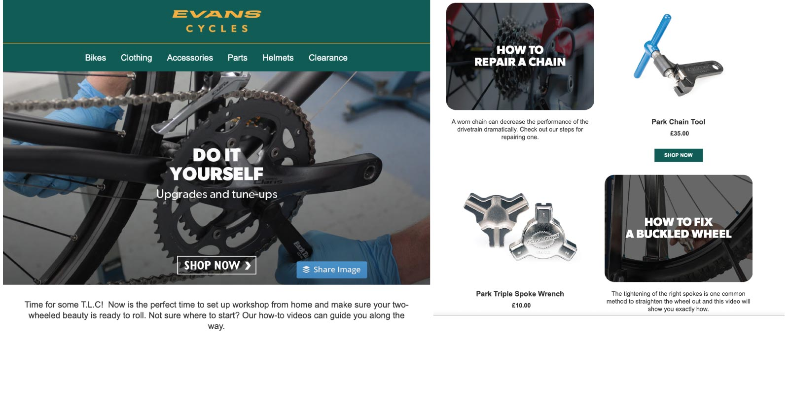 Getting Your Brand Message Right in Times of Crisis - Evans Cycles