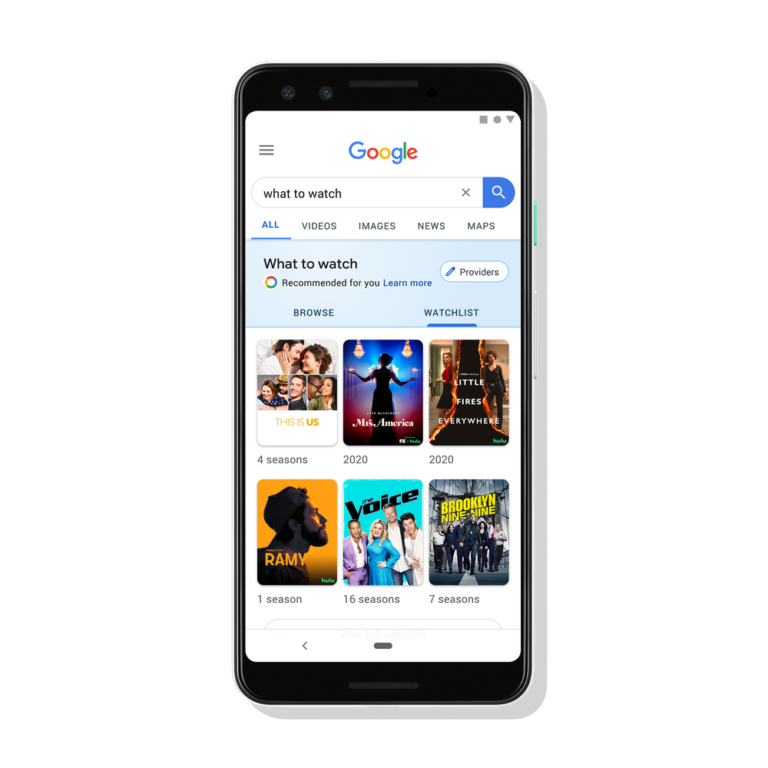 Google Search Adds Feature For Keeping Track of Movies & Shows to Watch