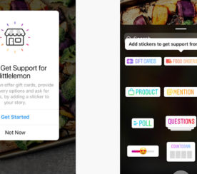 Instagram Has New Call-to-Action Stickers for Gift Cards and Delivery