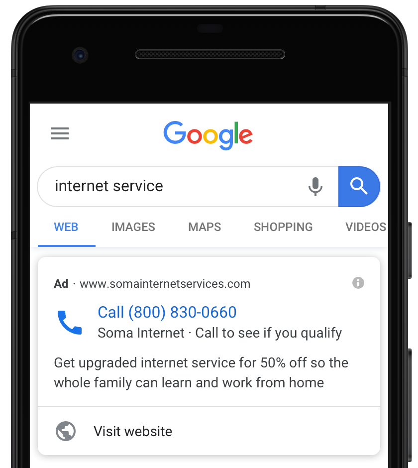 Google Call Only Ads Now Include Link Option