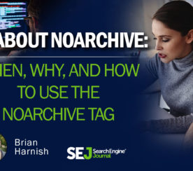 When, Why & How to Use the Noarchive Tag