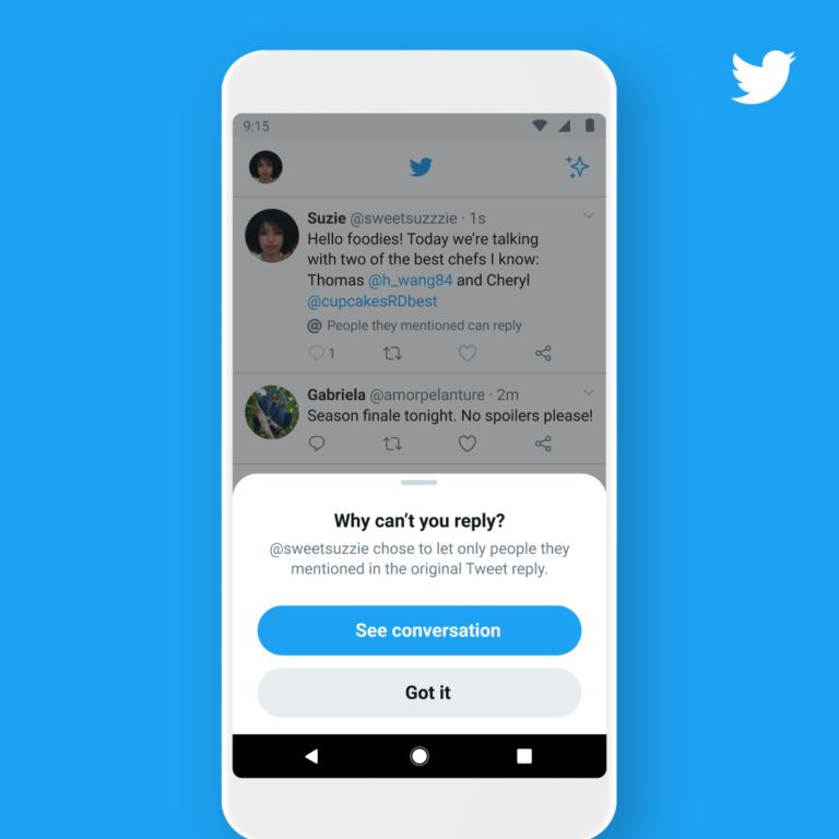 Twitter to Let Users Choose Who Can Reply to Tweets