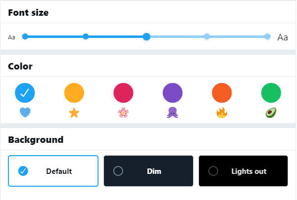customize your Twitter colors and background