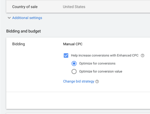 google shopping ecpc bidding