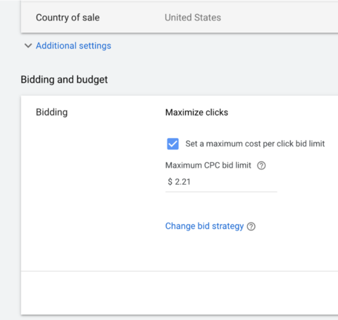 google shopping maximize clicks bidding strategy