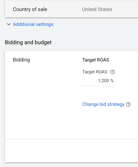 google shopping troas bidding model