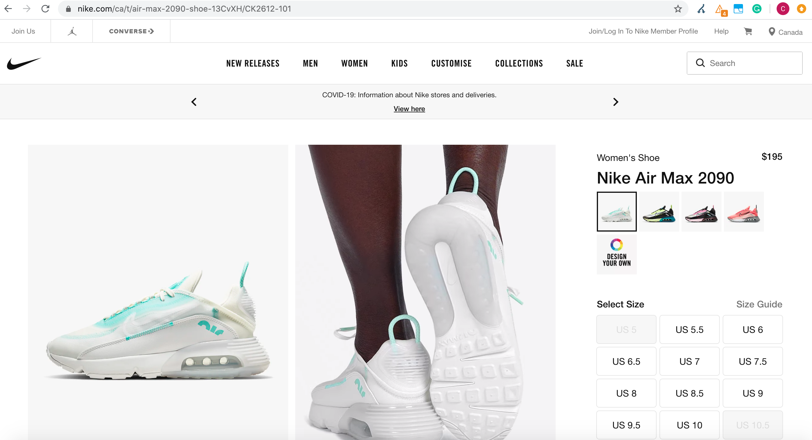 Nike online store on root domain