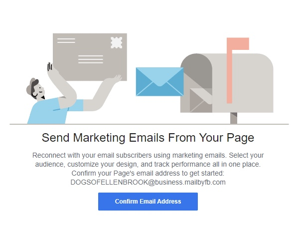 Facebook Tests Email Marketing Tools for Business Pages