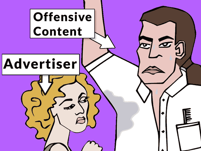 advertisers and offensive content