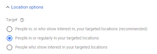 in or regularly in targeted location