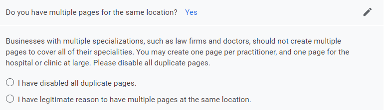 Multiple pages questions