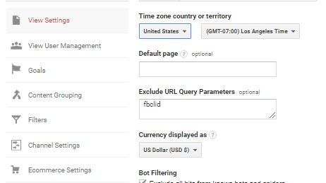 Adding FBCLID to Google Analytics