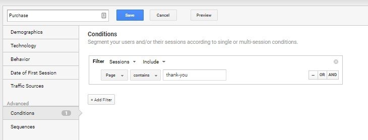Google Analytics Segment For Past Conversions