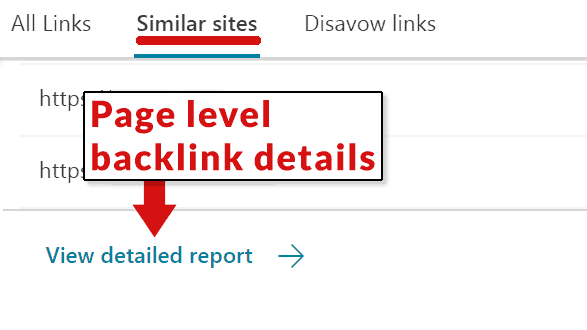 Screenshot of Bing Backlink Checker Tool