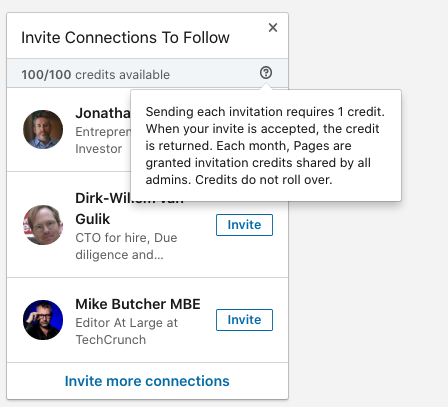 LinkedIn to Prevent Users From Spamming Page Follow Invites