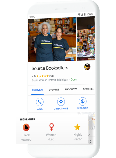 Google Highlights Black-Owned Businesses in Search Results